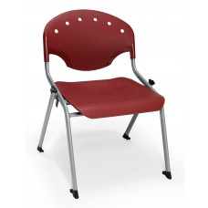 Rico Student Stack Chair 16 Inch Seat Height, Burgundy
