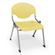 Rico Student Stack Chair 16 Inch Seat Height, Yellow