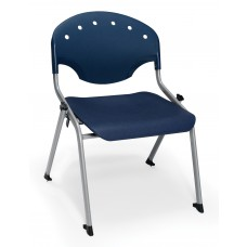 Rico Student Stack Chair 16 Inch Seat Height, Blue