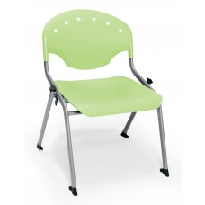 Rico Student Stack Chair 16 Inch Seat Height, Green