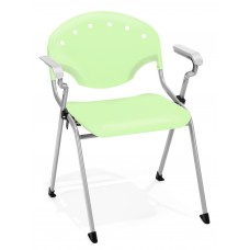 OFM Core Collection Rico Series Plastic Stack Chair with Arms, in Lime Green (306-P0)