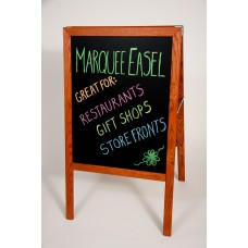 """42"""" H x 24"""" W Marquee Easel (stained hardwood) Black Dry-Erase Bd."""