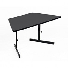 "Adjustable Height 1 1/4"" High Pressure, Trapezoid, Computer/Training Tables - 30x60"" Trap - Green"