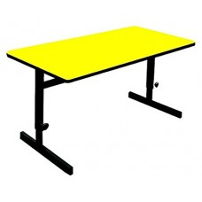 "Adjustable Height 1 1/4"" High Pressure Top Computer/Training Tables  - 30x72"" - Yellow"