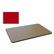 Bar & Cafe Table Parts-TOP ONLY - 30x60 - Red