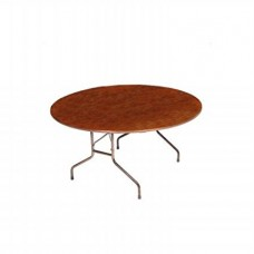 """Solid High-Pressure Plywood Core Folding Tables - 60"""" oval - Walnut"""