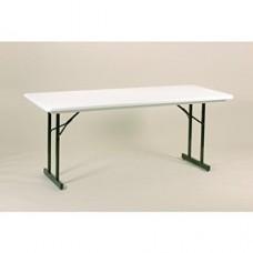 Heavy Duty Blow-Molded Folding Table with T-Leg - 30x96 - Gray Granite