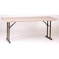 Heavy Duty Blow-Molded Folding Table with T-Leg - 30x72 - Mocha Granite