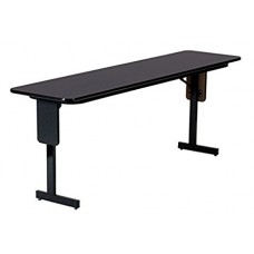 "3/4"" High Pressure Folding Seminar Table with Panel Leg - 24x72"" - Fusion Maple"