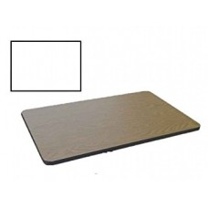 Bar & Cafe Table Parts-TOP ONLY - 30x60 - White