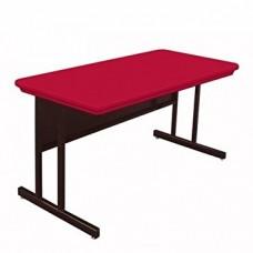 "Blow-Molded Plastic Top Computer/Training Tables - 30x72"" - Grey Granite"