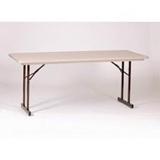 Heavy Duty Blow-Molded Folding Table with T-Leg - 30x96 - Mocha Granite