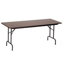 "Solid High-Pressure Plywood Core Folding Tables - 30x72"" - Walnut"