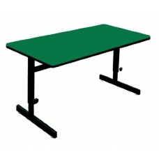 "Adjustable Height 1 1/4"" High Pressure Top Computer/Training Tables  - 30x48"" - Green"