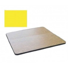 """Bar & Cafe Table Parts-TOP ONLY - 24"""" Square - Yellow"""