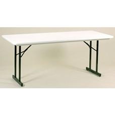 Heavy Duty Blow-Molded Folding Table with T-Leg - 30x72 - Gray Granite