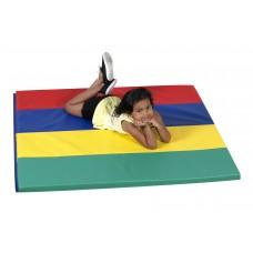 Rainbow Folding Gym Mat - 4'x4'