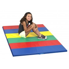 Children's Factory Rainbow Folding Gym Mat Soft Play Mat for Kids Playroom Décor (48 x 72 x 1.5 in)