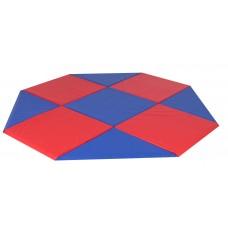 Modular Mats - 9x9 Octagon Blue and Red