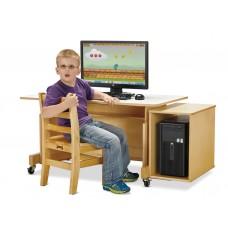 Jonti-Craft® Apollo Single Computer Desk - White Top