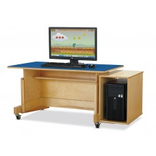 Jonti-Craft® Apollo Single Computer Desk - Blue Top