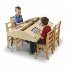 Jonti-Craft® Quad Tablet Table - Stationary