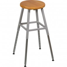 Lab Stool Without Back (Gray) (1/Carton)