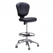 Metro™ Extended-Height Chair - Black Vinyl