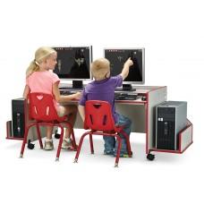 Rainbow Accents® Enterprise Double Computer Desk - Red