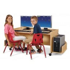 MapleWave® Enterprise Double Computer Desk