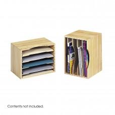 Wood Stackable Sorters - Light Oak