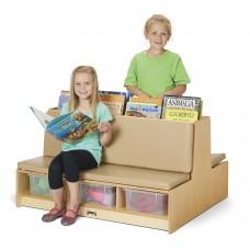Jonti-Craft® Read-a-Round Couch - Wheat