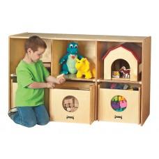 Jonti-Craft® See-n-Wheel Shelf with Bins