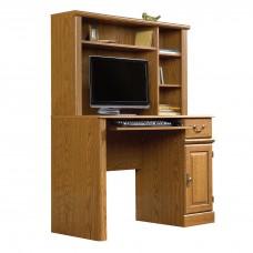 Orchard Hills Computer Desk w/Hutch - Carolina Oak