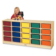 Jonti-Craft® 20 Tub Mobile Storage - with Colored Tubs