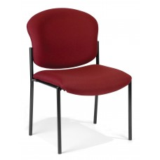 OFM 408-803 Armless Stack Chair, Wine