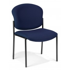 OFM 408-804 Armless Stack Chair, Navy