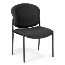 OFM 408-805 Armless Stack Chair, Black