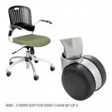 Soft Caster for Sassy® Chair-Set of 5 - Black