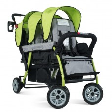 The Trio Sport™ Triple Tandem Stroller - Lime - N/A