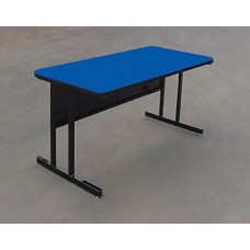 """Keyboard Height 1 1/4"""" High Pressure Top Computer/Training Tables  - 30x48"""" - Blue"""