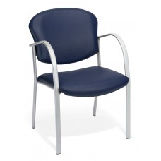 OFM 414-VAM-605 Reception Chair with Arms - Vinyl Guest Chair, Navy