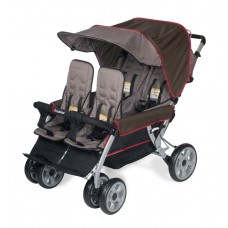 The LX4™ 4-Passenger / Dual Canopy Folding Stroller - EarthScape - N/A
