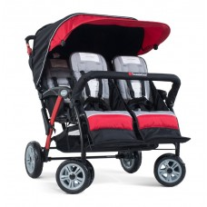 The Quad Sport™ 4-Passenger Stroller - Red - N/A