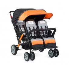 The Quad Sport™ 4-Passenger Stroller - Orange - N/A