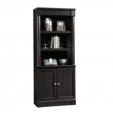 Palladia Library With Doors - Wind Oak