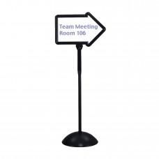Write Way® Directional Sign - Black