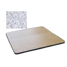 """Bar & Cafe Table Parts-TOP ONLY - 24"""" Square - Grey Granite"""