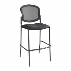 Diaz™ Bistro-Height Mesh Back - Black - Black