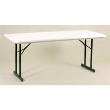 Heavy Duty Blow-Molded Folding Table with T-Leg - 30x72 - Green